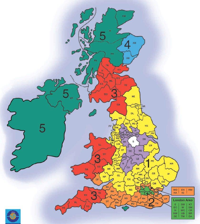 Palletline zone map